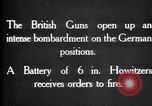 Image of British gun batteries in Battle of the Ancre France, 1916, second 4 stock footage video 65675028123