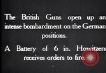 Image of British gun batteries in Battle of the Ancre France, 1916, second 5 stock footage video 65675028123