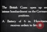 Image of British gun batteries in Battle of the Ancre France, 1916, second 6 stock footage video 65675028123