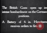 Image of British gun batteries in Battle of the Ancre France, 1916, second 7 stock footage video 65675028123