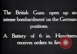 Image of British gun batteries in Battle of the Ancre France, 1916, second 8 stock footage video 65675028123