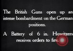 Image of British gun batteries in Battle of the Ancre France, 1916, second 9 stock footage video 65675028123
