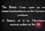 Image of British gun batteries in Battle of the Ancre France, 1916, second 10 stock footage video 65675028123