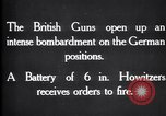 Image of British gun batteries in Battle of the Ancre France, 1916, second 11 stock footage video 65675028123