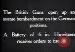 Image of British gun batteries in Battle of the Ancre France, 1916, second 12 stock footage video 65675028123