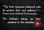 Image of Irish Regiment troops in Battle of the Ancre France, 1916, second 1 stock footage video 65675028128