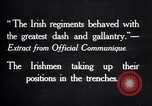 Image of Irish Regiment troops in Battle of the Ancre France, 1916, second 2 stock footage video 65675028128