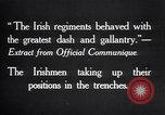 Image of Irish Regiment troops in Battle of the Ancre France, 1916, second 4 stock footage video 65675028128