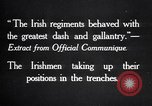 Image of Irish Regiment troops in Battle of the Ancre France, 1916, second 5 stock footage video 65675028128