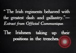 Image of Irish Regiment troops in Battle of the Ancre France, 1916, second 6 stock footage video 65675028128