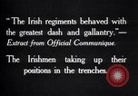 Image of Irish Regiment troops in Battle of the Ancre France, 1916, second 7 stock footage video 65675028128
