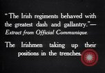 Image of Irish Regiment troops in Battle of the Ancre France, 1916, second 8 stock footage video 65675028128