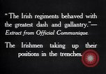 Image of Irish Regiment troops in Battle of the Ancre France, 1916, second 9 stock footage video 65675028128