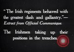 Image of Irish Regiment troops in Battle of the Ancre France, 1916, second 10 stock footage video 65675028128