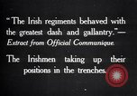 Image of Irish Regiment troops in Battle of the Ancre France, 1916, second 11 stock footage video 65675028128