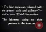 Image of Irish Regiment troops in Battle of the Ancre France, 1916, second 12 stock footage video 65675028128