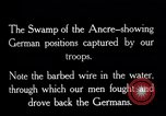 Image of Barbed wire placed by Germans in Ancre River marshes  France, 1916, second 2 stock footage video 65675028138