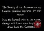 Image of Barbed wire placed by Germans in Ancre River marshes  France, 1916, second 7 stock footage video 65675028138