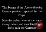 Image of Barbed wire placed by Germans in Ancre River marshes  France, 1916, second 8 stock footage video 65675028138