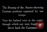 Image of Barbed wire placed by Germans in Ancre River marshes  France, 1916, second 11 stock footage video 65675028138