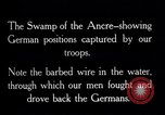 Image of Barbed wire placed by Germans in Ancre River marshes  France, 1916, second 12 stock footage video 65675028138