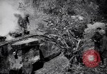 Image of British Mark I tank (male) followed by Allied troops France, 1916, second 8 stock footage video 65675028139