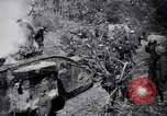 Image of British Mark I tank (male) followed by Allied troops France, 1916, second 9 stock footage video 65675028139
