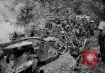 Image of British Mark I tank (male) followed by Allied troops France, 1916, second 11 stock footage video 65675028139