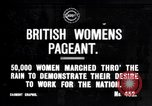 Image of British women march to work in World War 1 effort United Kingdom, 1914, second 1 stock footage video 65675028143