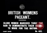 Image of British women march to work in World War 1 effort United Kingdom, 1914, second 2 stock footage video 65675028143