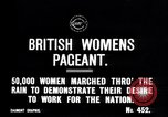 Image of British women march to work in World War 1 effort United Kingdom, 1914, second 3 stock footage video 65675028143