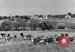 Image of cattle ranches Texas United States USA, 1942, second 2 stock footage video 65675028175