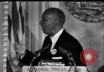 Image of Philip Randolph addresses National Press Club Washington DC USA, 1963, second 1 stock footage video 65675028213