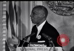 Image of Philip Randolph addresses National Press Club Washington DC USA, 1963, second 4 stock footage video 65675028213