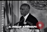 Image of Philip Randolph addresses National Press Club Washington DC USA, 1963, second 5 stock footage video 65675028213