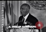 Image of Philip Randolph addresses National Press Club Washington DC USA, 1963, second 6 stock footage video 65675028213