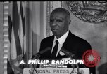 Image of Philip Randolph addresses National Press Club Washington DC USA, 1963, second 7 stock footage video 65675028213
