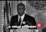 Image of Philip Randolph addresses National Press Club Washington DC USA, 1963, second 8 stock footage video 65675028213