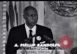 Image of Philip Randolph addresses National Press Club Washington DC USA, 1963, second 9 stock footage video 65675028213