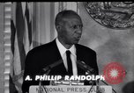 Image of Philip Randolph addresses National Press Club Washington DC USA, 1963, second 10 stock footage video 65675028213