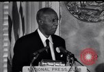 Image of Philip Randolph addresses National Press Club Washington DC USA, 1963, second 11 stock footage video 65675028213