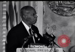 Image of Philip Randolph addresses National Press Club Washington DC USA, 1963, second 12 stock footage video 65675028213