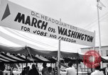 Image of March on Washington preparations Washington DC USA, 1963, second 4 stock footage video 65675028215