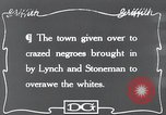 Image of Negroes Eastern United States USA, 1916, second 1 stock footage video 65675028230