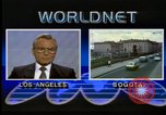 Image of Frank Carlucci speaking about drug trafficking United States USA, 1987, second 9 stock footage video 65675028281