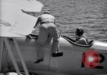 Image of U.S. Navy student pilot completes first solo in N3N seaplane Pensacola Florida USA, 1938, second 2 stock footage video 65675028329