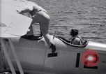 Image of U.S. Navy student pilot completes first solo in N3N seaplane Pensacola Florida USA, 1938, second 3 stock footage video 65675028329