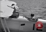 Image of U.S. Navy student pilot completes first solo in N3N seaplane Pensacola Florida USA, 1938, second 4 stock footage video 65675028329