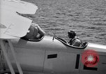 Image of U.S. Navy student pilot completes first solo in N3N seaplane Pensacola Florida USA, 1938, second 5 stock footage video 65675028329