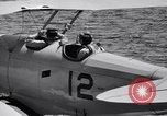 Image of U.S. Navy student pilot completes first solo in N3N seaplane Pensacola Florida USA, 1938, second 11 stock footage video 65675028329